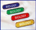 BIOLOGY - BAR Lapel Badge